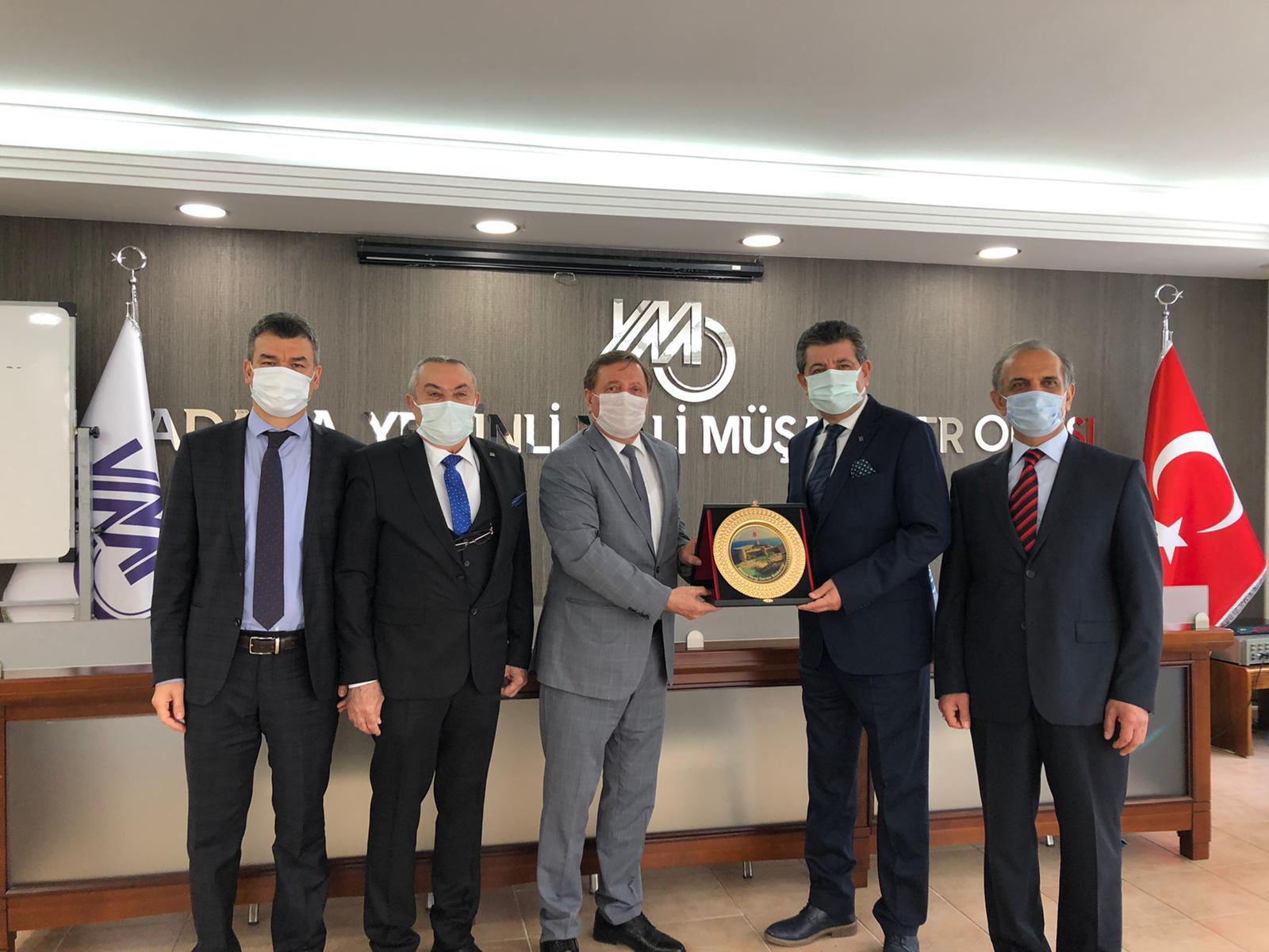 Mersin Vergi Dairesi Başkanı Seyfettin BAYSAL Odamızı ziyaret etmiştir.10.03.2021